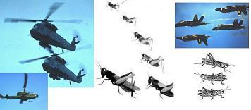 Descripción de un helicóptero en profecía de la Biblia Grasshoperschoppers