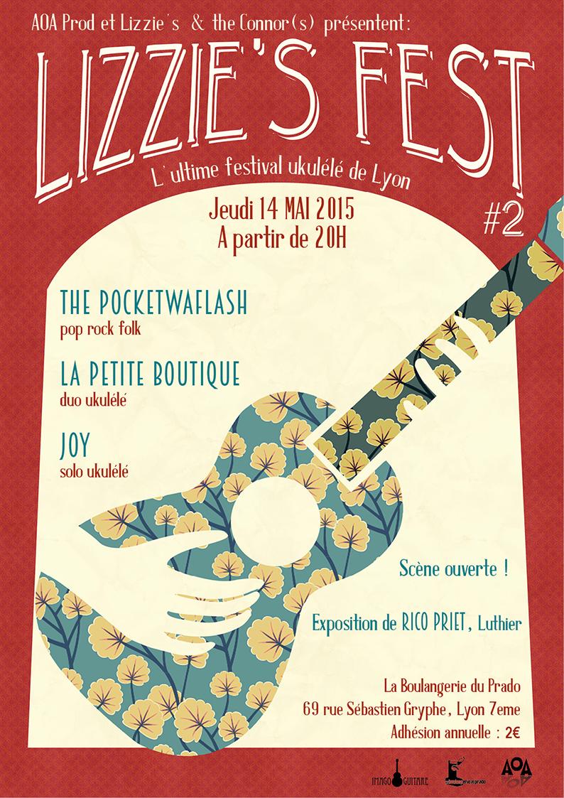 Lizzie's Fest : festival Ukulélé de Lyon, 2ème édition Lizzie-Fest-2015