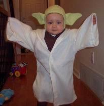 Disfraces caseros para niños-- de Yoda Disfraces-yoda