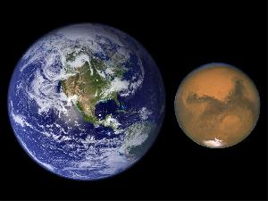 كوكب المريــــــخ Mars-earth-comparison_small