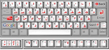 لوحة مفاتيح اللغة العربية والسريانية Keyboard