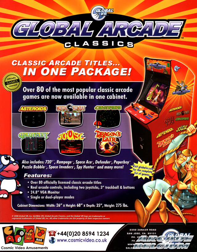 Global Arcade Classics Flygaca