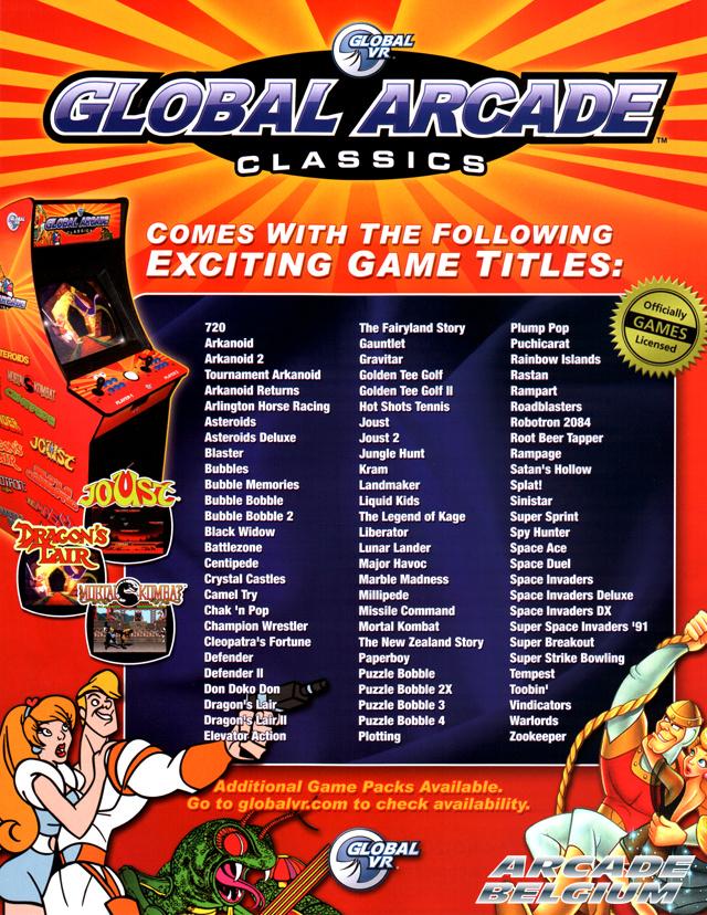 Global Arcade Classics Flygacb