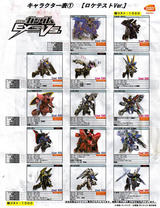 Mobile Suit Gundam Extreme Vs. Gundamvs14