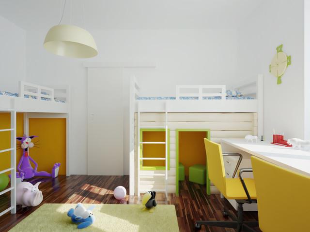 غرف نوم اطفال 15-Stunning-Contemporary-Kids-Room-Designs-Your-Kids-Would-Love-To-Play-In-13