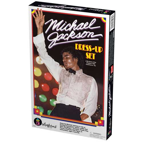 """Michael Jackson Dress Up Set"" del 1984 nuovamente prodotto Lg70282"