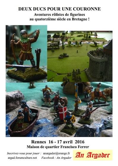 Deux ducs pour une couronne ...ou la guerre de Succession de Bretagne en raccourci ! Affiche-16-17avril-b