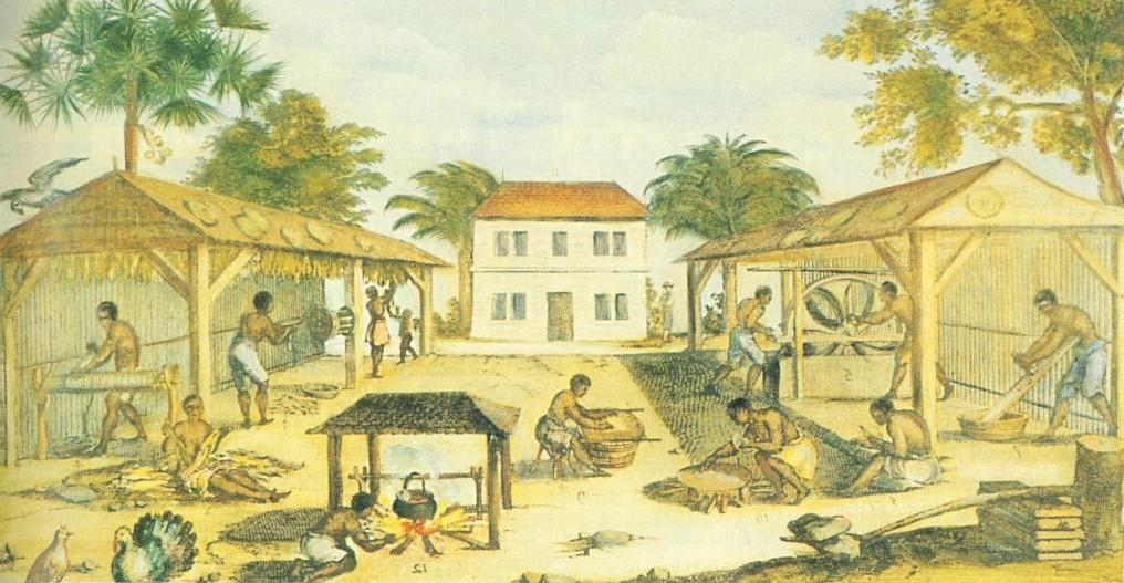L'habitation Biennofont Tobacco-sheds-1670