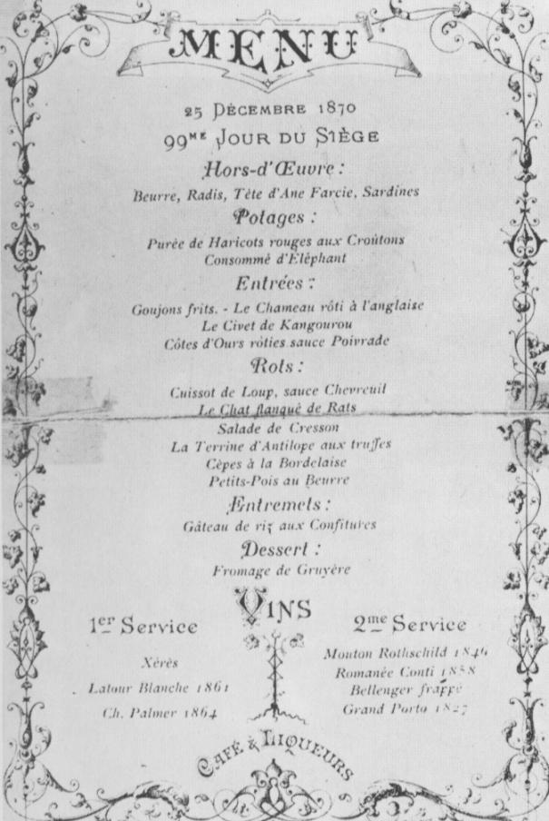 Menu de restaurant en 1870 Menu-siegedeparis