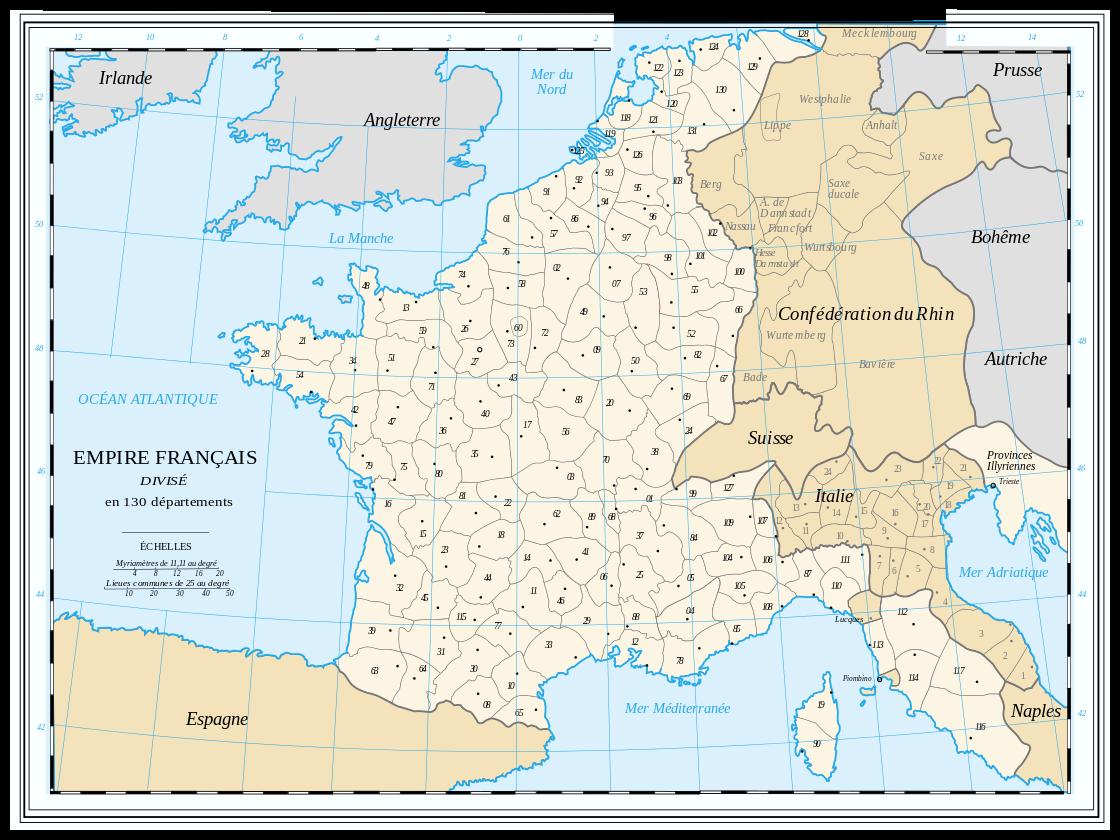 Sujet : fin de l'Allemagne (hitlérienne)... Departements-empire
