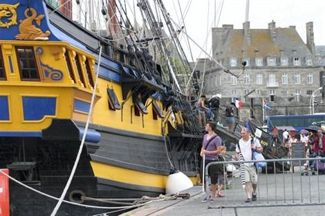 manoeuvres et ambiance à bord des navires anglais Etoile-du-roy