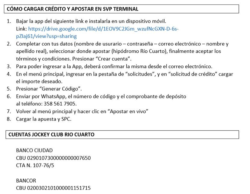 INFORMACION REUNION RIO CUARTO (Programa, link, apuestas)  Jun20-ComoJugar-JCRC1