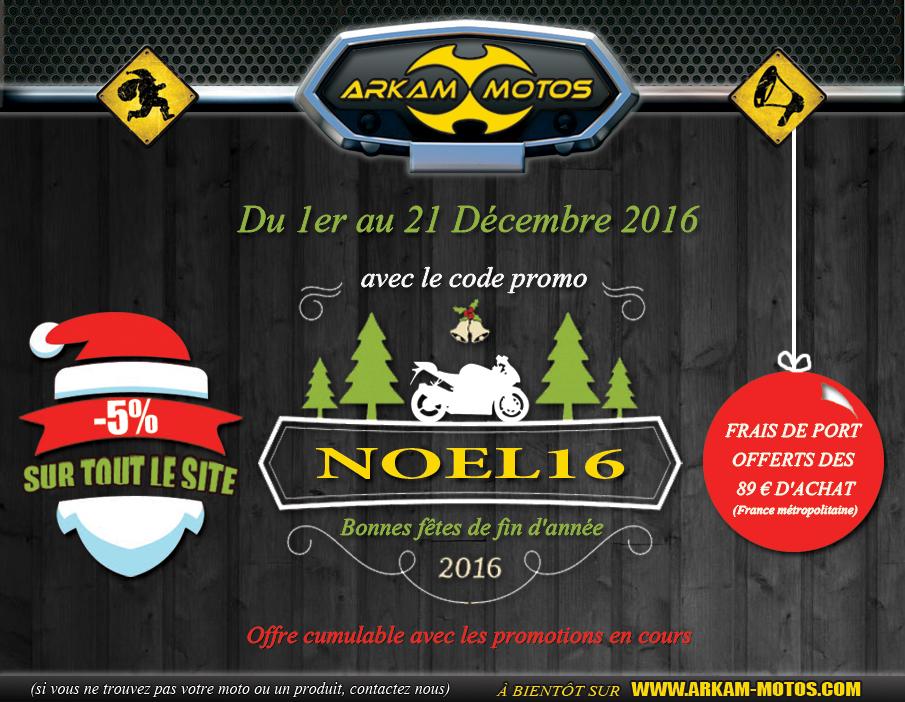C'est déjà Noël chez Arkam Motos ! Code promo spécial ! NEWSLETTER_NOEL160