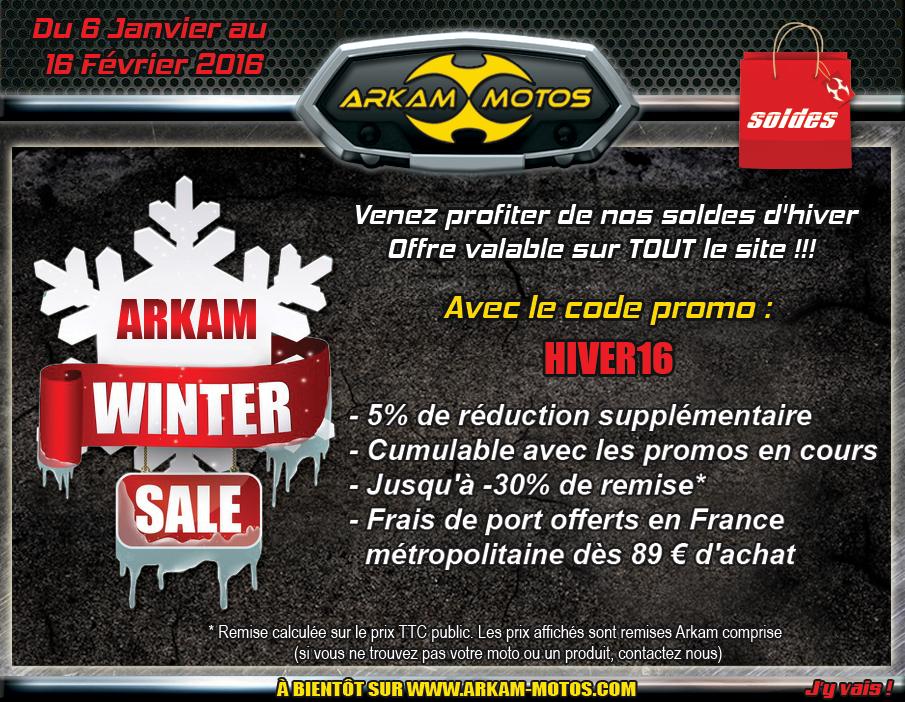 Les soldes d'hiver Arkam Motos sont lancées ! NEWSLETTER_SOLDES_HIVER20160