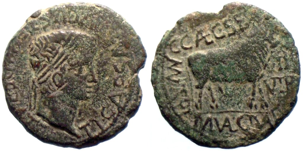As de Turiaso, reinado de Tiberio. TibCel