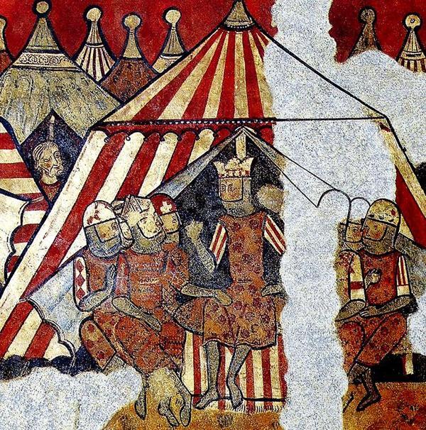 Construcción de un Pabellón Medieval octogonal para 6 plazas Rey-don-jaime-a-la-conquista-de-mallorca