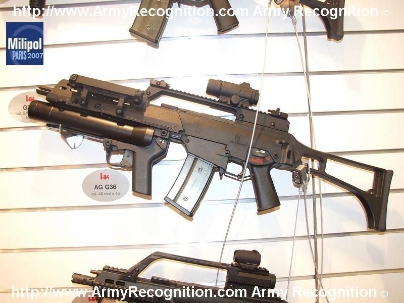 NUEVOS PROYECTOS EN DESARROLLO SEDENA 2012 - Página 2 HK_AG_G36_grenade_launcher_40mm_Heckler_and_Koch_Milipol_2007_001