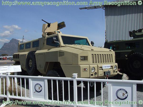 المدرعات المضادة للالغام   Aravis أو M-ATV Matador_wheeled_armoured_vehicle_personnel_carrier_South_Africa_African_Defense_Industry_001