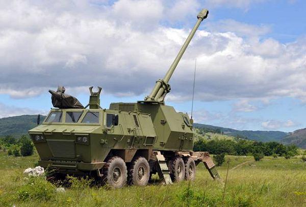 مدفعية الميدان المتحركة نورا Artillery_yugo_import_Nora-B_wheeled_sel-propelled_howitzer_Serbia_Serbian_Defence_Industry_001