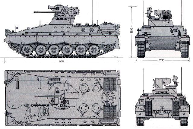 المانيا تمنح تونس 10 ملايين يورو لشراء مدرعات من نوع ''ماردر'' Marder_1_tracked_armoured_infantry_fighting_combat_vehicle_Germany_German_army_defence_industry_line_drawing_blueprint_001