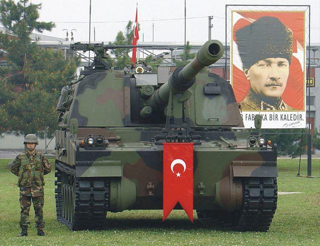 الهاوتزر التركي فيرتينا T-155_Firtina_155mm_tracked_self-propelled_howitzer_Turkey_Turkish_army_defence_industry_military_technology_002