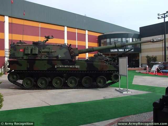 الهاوتزر التركي فيرتينا T-155_Firtina_155mm_tracked_self-propelled_howitzer_Turkey_Turkish_army_defence_industry_military_technology_004