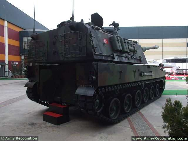 الهاوتزر التركي فيرتينا T-155_Firtina_155mm_tracked_self-propelled_howitzer_Turkey_Turkish_army_defence_industry_military_technology_011