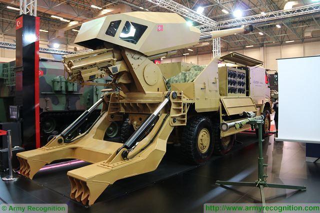 المدفع التركي الجديد Kamyona Monteli Obius عيار 155 ملم  ذاتي الحركه  New_Aselsan_KMO_6x6_155mm_52_caliber_self-propelled_howitzer_at_IDEF_2017_640_002