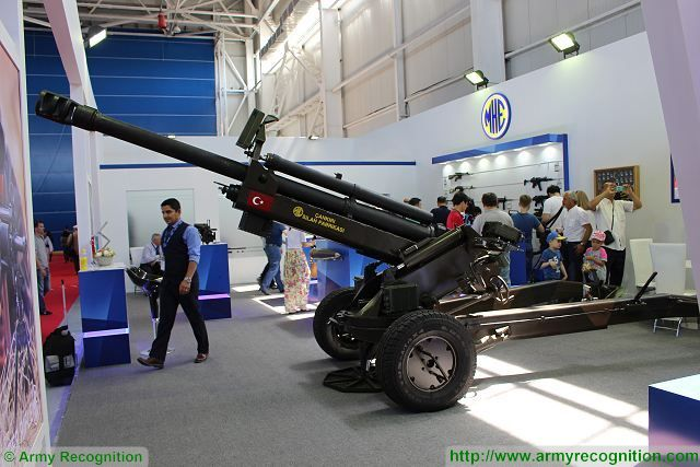 Turkish Ground Forces equipment MKE_105mm_air_transportable_light_towed_howitzer_KADEX_2016_defense_exhibition_Astana_Kazakhstan_001