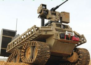 اول مركبة قتال غير مأهولة اسرائيلية (UGCV) Avantguard_g-nius_ugcv_unmanned_ground_combat_vehicle_Israel_Israeli_Army_front_side_view_001