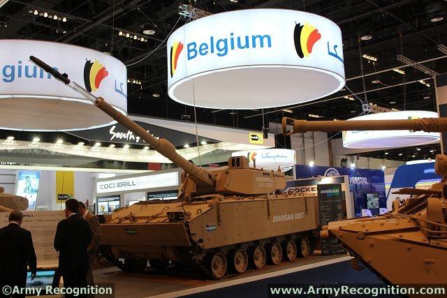 Abu Dhabi IDEX-NAVDEX 2013 Cockerill_XC-8_turret_pn_Doosan_K21_infantry_fighting_vehicle_CMI_Defence_Belgium_defense_industry_IDEX_2013_001