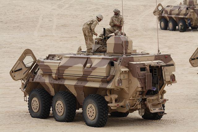 Abu Dhabi IDEX-NAVDEX 2013 NBC_FOX_Rheinmetall_CBRN_6x6_armoured_vehicle_UAE_live_demonstration_IDEX_2013_001