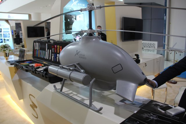 المروحيه المسيره Sky Saker -H300 الصينيه  Discover-the-Sky-saker-H300-unmanned-helicopter-at-Norincos-stand-ISNR-2016