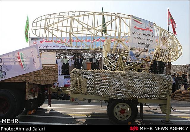 بعض الانجازات العسكرية الايرانية المعلنة Iran_unveils_new_home-made_radar_to_detect_stealth_targets_cruise_missiles_at_military_parade_22_September_2013_001