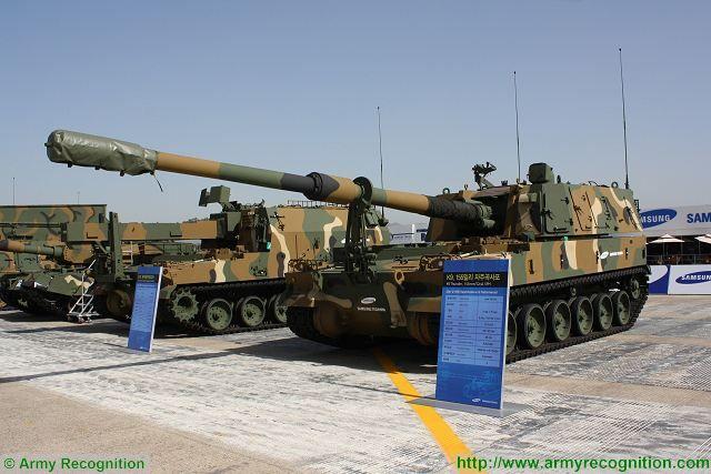 مصر قد تشتري مدافع K9 الذاتيه الحركه عيار 155 ملم من كوريا الجنوبيه  Techwin_from_South_Korea_could_sell_K9_155mm_self-propelled_howitzer_to_Egypt_640_001