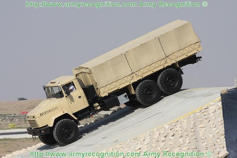 شركة المركبات العسكرية AutoKraZ تسلم مصر آخر شحنة من عربات النقل العسكري Truck_Kraz-6322_Sofex_2008_Army_Recognition_002