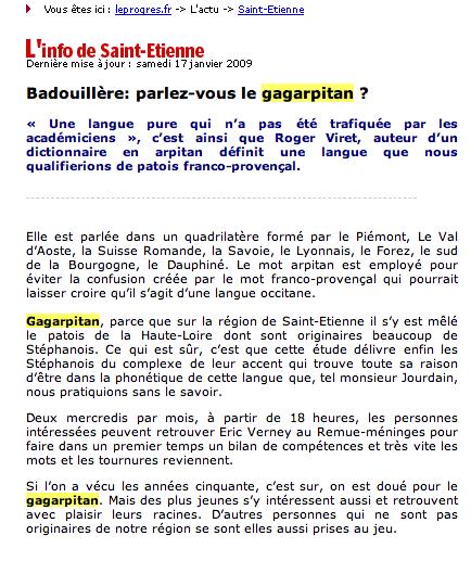 Gagarpitan dans la Loire Gagarpitan