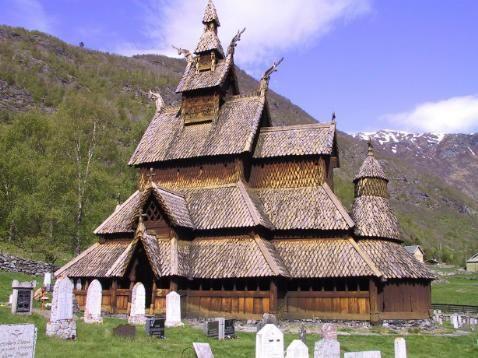 Burrro de tonelero con madera de palets - Página 2 Iglesia-madera-de-Borgund-Noruega