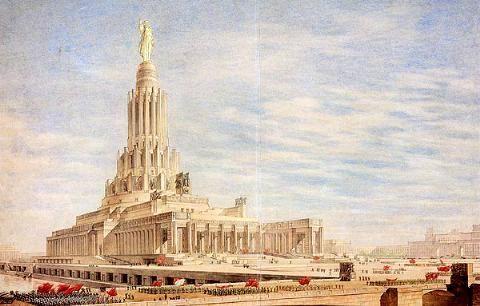 Nueva Moscu de Stalin ,arquitectura Sovietica Palacio%20de%20los%20Soviets%20Moscu