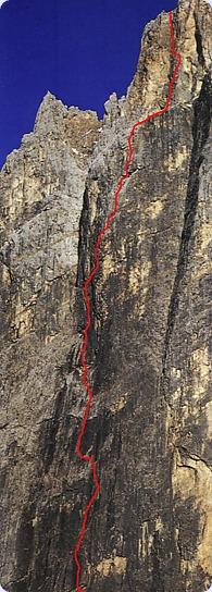 Dolomiti - Pale di San Lucano Via-pilastro-massarotto-monte