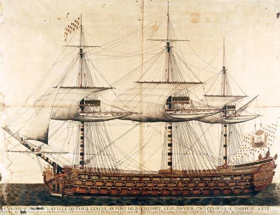 El navio de tres puentes en la Armada The_ship