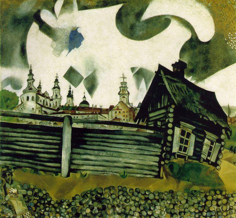Marc Chagall 1887-1985 Chagall_grey_house