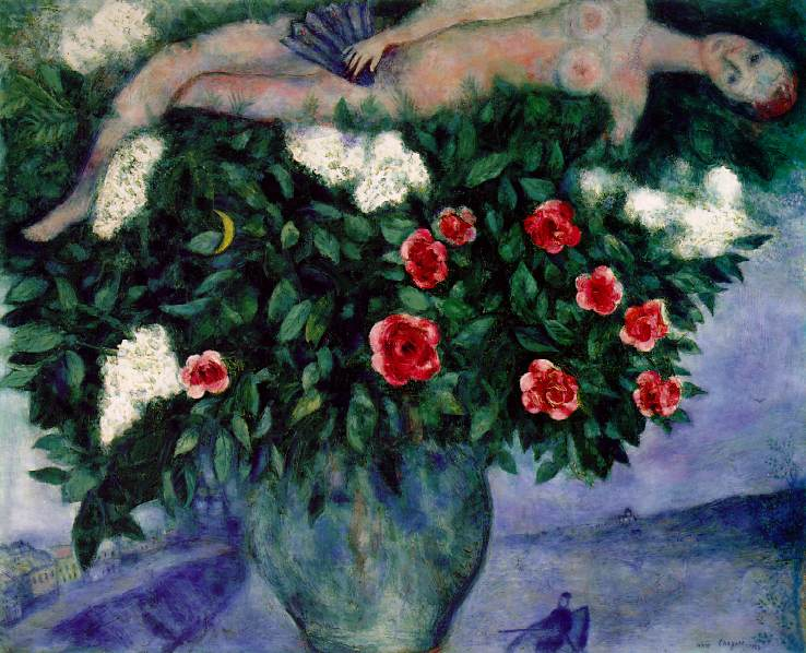 Marc Chagall 1887-1985 Woman_and_the_roses