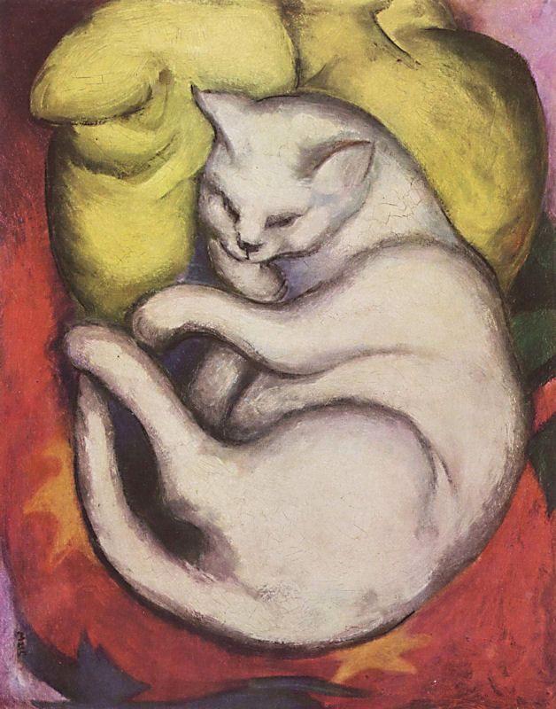 La peinture - Page 12 Franz-marc-cat