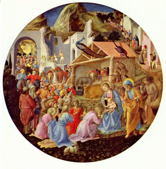 Adoración de los tres reyes magos-Fra Angelico Mwm00128