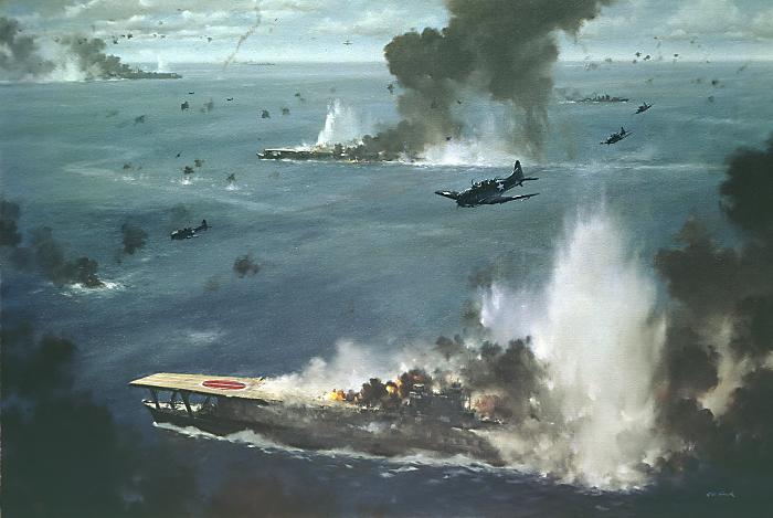 اهم المعارك البحرية التي شهدها القرن العشرين! Bill-Schanefelt---Battle-of-Midway