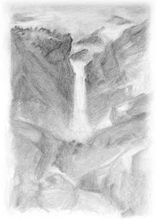خطوه بخطوه ..... الرسم بالرصاص Drawing-nature2