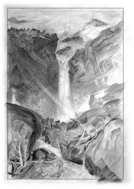 خطوه بخطوه ..... الرسم بالرصاص Trees-water-art-lesson2