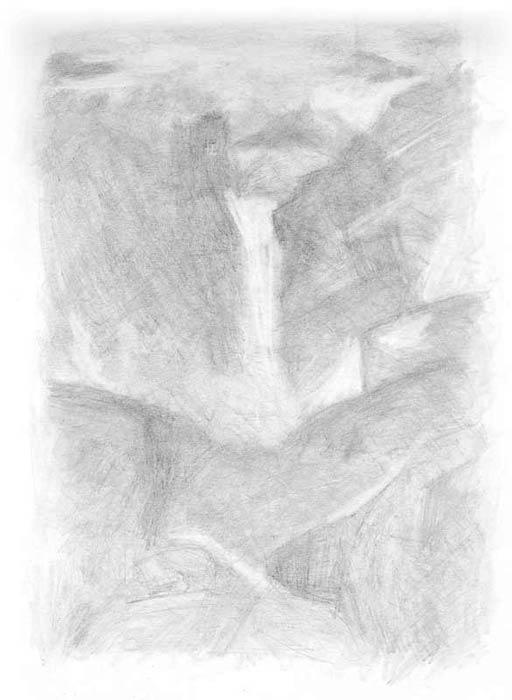 خطوه بخطوه ..... الرسم بالرصاص Waterfall-art-tutorial2