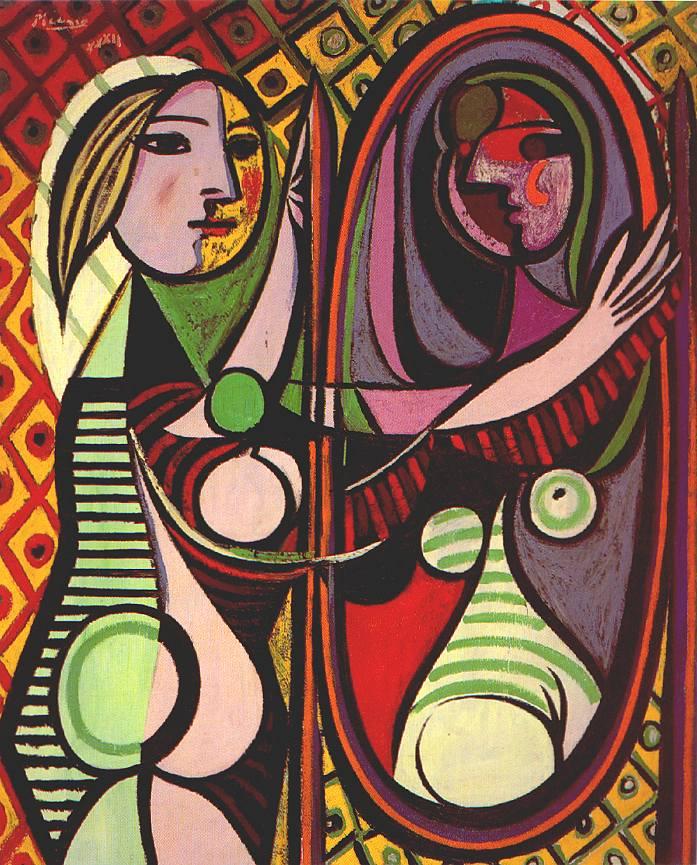 Manierismo. - Página 4 PabloPicasso-Girl-Before-a-Mirror-1932